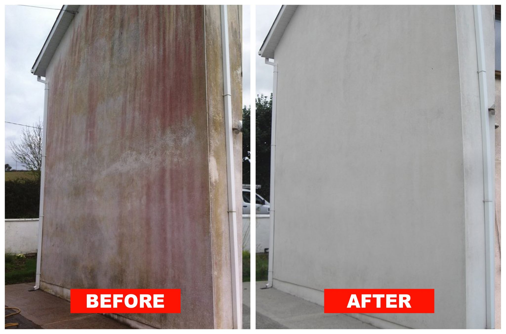 render cleaning softwashing before after